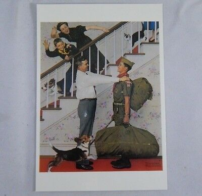 Homecoming by Norman Rockwell Boy Scout Postcard Cub Camp Family Scouting 1959