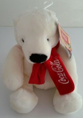 "Coca-Cola Plush Polar Bear By Boyd's Collection, New w/ Tag, Mint Condition 9""H"