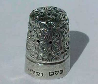 Antique Solid Silver Charles Horner Thimble
