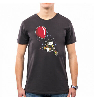 T-Shirt Uomo I Can Fly Sweet Penguin Pinguino Lc0002A Pacdesign