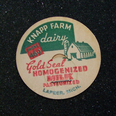 Knapp Farm Dairy Lapeer MI Milk Bottle Cap