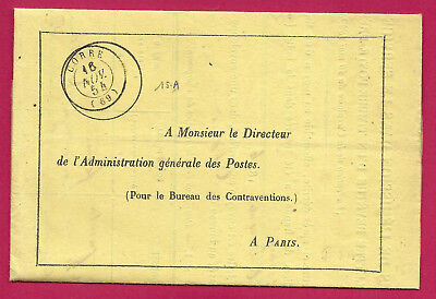 Proces Verbal Timbre Frauduleux Corre Haute Saone 1854 Lettre Cover