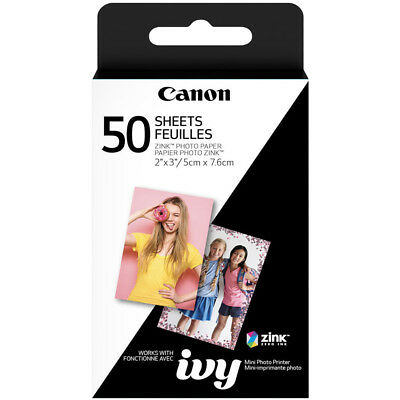 Canon ZINK Photo Paper Pack (50 Sheets) for IVY Mini Printers