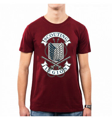 T-Shirt Uomo Scouting Legion Attack On Titan Op0047A Pacdesign