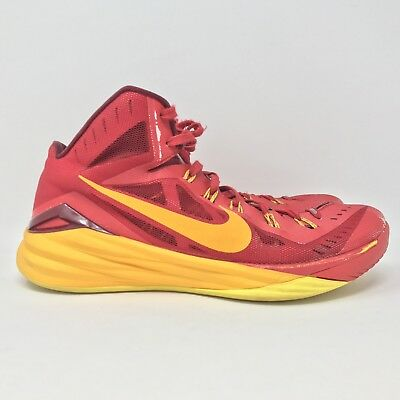 the latest 22020 a754f Nike Sz 11.5 Mens Hyperdunk 2014 Red Gold Rare Basketball Shoes 653640-676  D11
