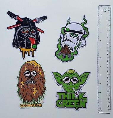 seedleSs A New Dope Star Wars Themed Sticker Artist Dane Holmquist 4 Characters