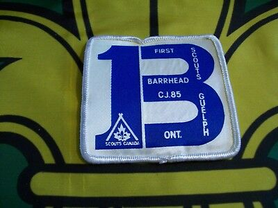 CJ'85  Canadian Scout badge First Barhead Scouts