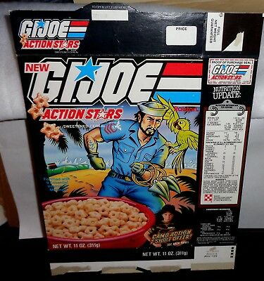 1985 RALSTON G.I. JOE ACTION STARS SHIPWRECK CEREAL BOX EMPTIED and FLAT