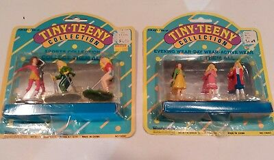 Vintage Woolworth, Tiny Teeny Collection Tara Toys Girl Figures