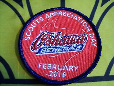 Oshawa Generals Scouts Appreciation Day Canadian Scout badge