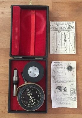 Vintage World War II Jaeger Watch Company Portable Tachometer US Air forces