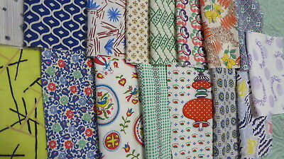 """Lot of 15 Vintage  Feedsack 6-6.5"""" squares Quilt top Block Crafts cotton Mixed"""