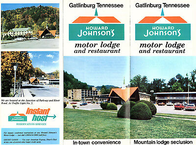 Howard Johnsons Motor Lodge & Restaurant Gatlinburg Tennessee Vintage Brochure