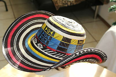 Colombian Hat~~Fino Sombrero Vueltiao~~Colombia, Flag Colors All Sizes Avail