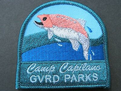 Girl Guides Canada Camp Capilano Gvrd Parks Embroidered Patch  Scouts Brownies