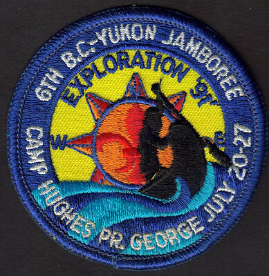 Boy Scouts Canada 6Th B.c. Yukon Jamboree 1991 Prince George Embroidered Patch