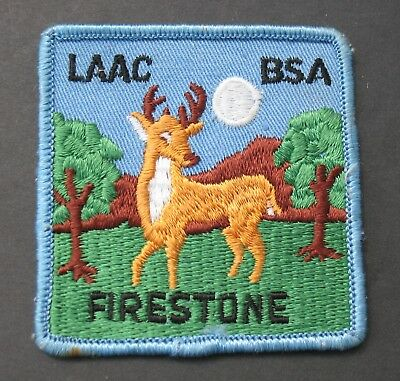 Boy Scouts Of America Bsa  Vintage Firestone Laac Reservation Patch Los Angeles