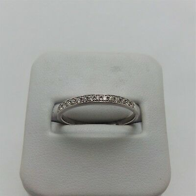 18ct WHITE GOLD FINE DIAMOND WEDDING BAND RING VALUED@$1170 COMES WITH VALUATION