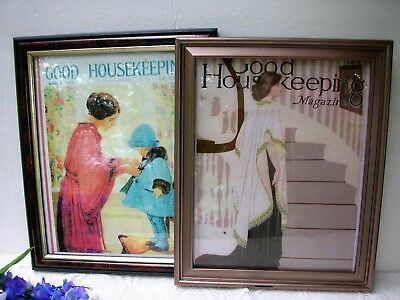 Framed Copies Antique Good Housekeeping Magazine Covers 1914 1922 Glamor Ladies