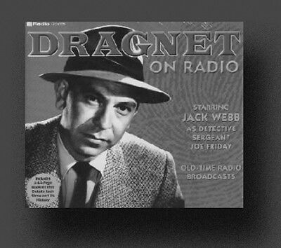 DRAGNET Old Time Radio Shows - 286 MP3s on DVD +FREE OFFER OTR