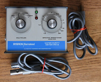 SYBRON Barnstead Water Purity Meter PM-6 w/0.1 Constant Cell E-3420 Great Shape!