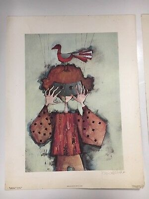 """Vintage Art Work: """"Puppet on a String"""" by Rosina Wachtmeister (Limited Edition)"""