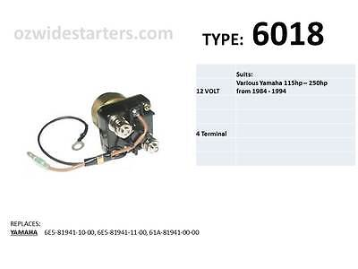Yamaha solenoid suits various 115hp - 250hp outboards from 1984 - 2014
