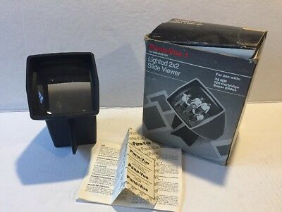 Vintage Pana-Vue 1 Illuminated Slide Viewer 2x2 with Box Manual