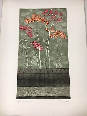 """Vintage Art Work: """"Peruvian lilies"""" by Tessa Beaver (Signed Limited Edition)"""