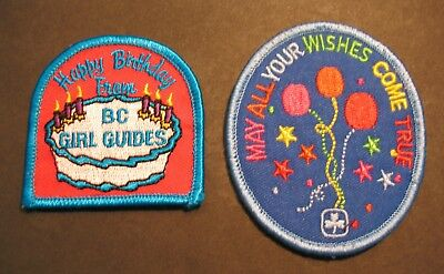 Girl Guides Canada 2 Happy Birthday May All Wishes B.c. Patch  Brownies Sparks