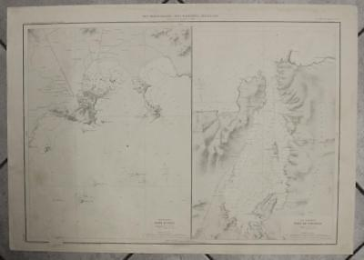 Ibiza & Fornells Menorca Balearic Spain 1966 After Linden Vintage Sea Charts