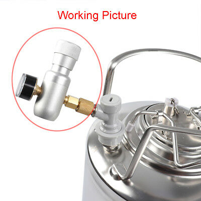 CO2 Keg Regulator Charger Kit Gas Injector Home Draft Beer Brew Tool Practical