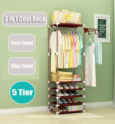 Clothes Airer Laundry Drying Rack Clothesline Coat Hanger Hat Shoe Storage Stand