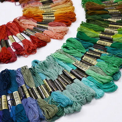 Mixed Color  Cotton Embroidery Thread Cross Stitch Floss Sewing Skeins X50