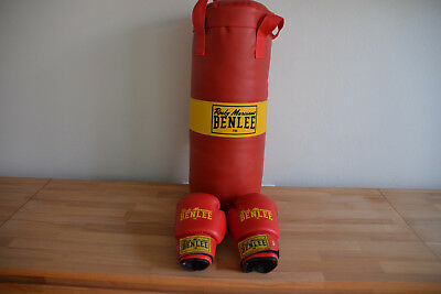 BOXSET f. Kinder Boxsack + Box-Handschuhe 6 oz BENLEE ROCKY MARCIANO rot TOP