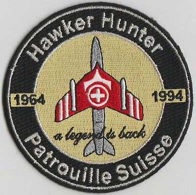 SWISS AIR FORCE Years Hawker Hunter Original Patrouille Suisse