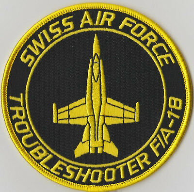Patch  Original SWISS AIR FORCE F/A-18 HORNET TROUBELSHOOTER