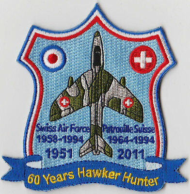 SWISS AIR FORCE Patch Original 60 Years Hawker Hunter