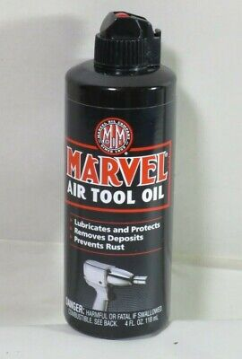 Marvel Mystery MM080R Air Tool Oil 4oz Bottle Red Thin Lubricates & Protects