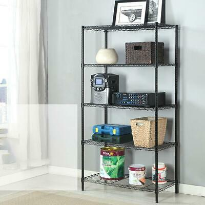 3/4/5 Tier Layer Storage Rack Organizer Kitchen Shelving Steel Wire Shelves Unit
