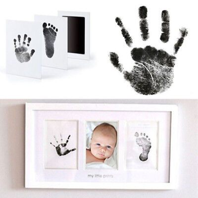 One Set of Baby Ink Pad Hand&Foot Print Photo Frame Kit with Touch Ink Pad Great