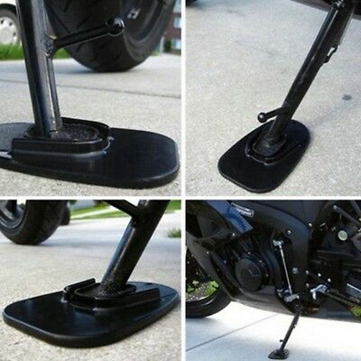 Motorcycle Bike Kickstand Side Kick Stand Pad Plate Base For Yamaha Honda Harley