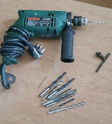 BOSCH 400W PSB 400-2 Hammer Drill 0-2200rpm 0-2800rpm Dual Speed with drill bits