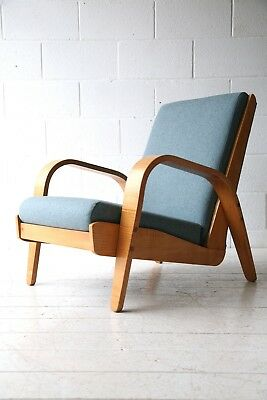 Beautiful Rare Vintage 1940s Modernist Armchair Chair
