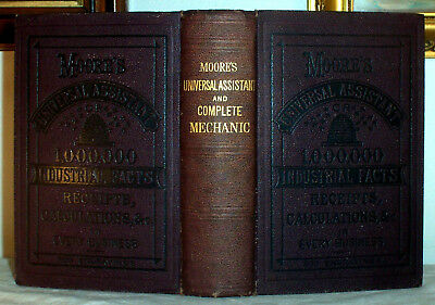 1881 Antique Farm Recipes Cooking Mechanic Beer Bees Medical Blacksmith Gold