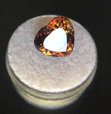 NATURAL Large 9.75ct Loose Champagne Cognac Topaz Heart Cut RARE Gem