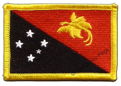 Papua New Guinea Flag EMBROIDERED PATCH 8x6cm Badge