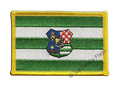 Croatia Zagreb Flag EMBROIDERED PATCH 8x6cm Badge