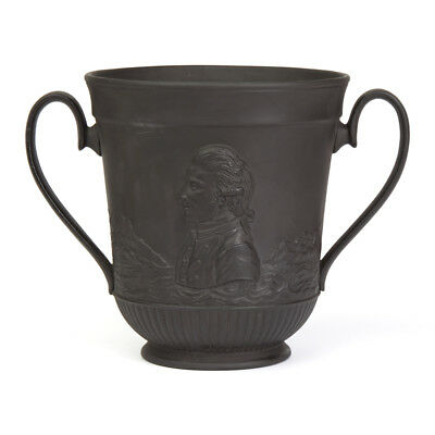 Antique Basalt Captain Cook Commemorative Loving Cup C.1879