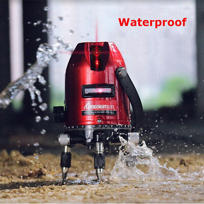 360° Self-leveling Cross Line Level Plumb Points Red laser 5 Line 6 Point + Box